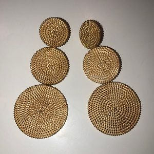 Lisi lerch gold statement earrings